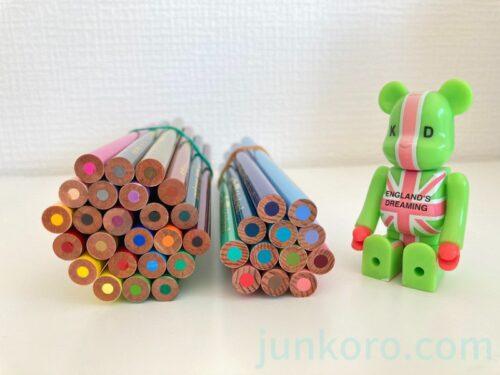 色鉛筆No.888の芯の太さ比較