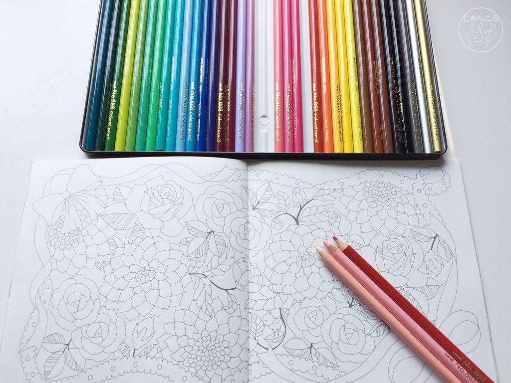 色鉛筆no.888と塗り絵